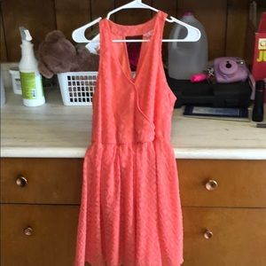 Peachy summer dress